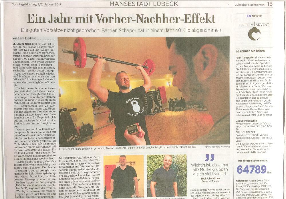 Zeitungsartikel von Bastians Erfolgsstory